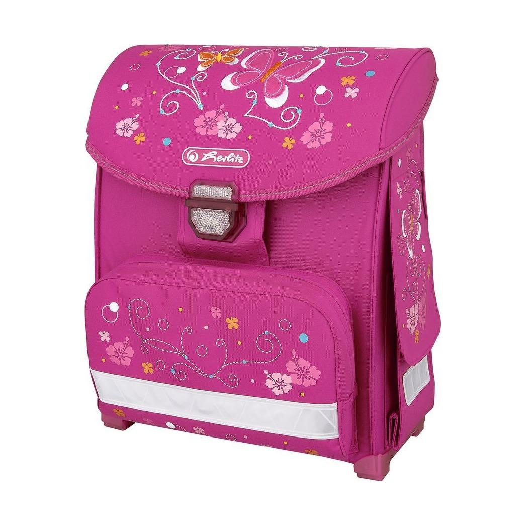 Купить Ранец Herlitz Smart Butterfly розовый, Школьные рюкзаки для девочек