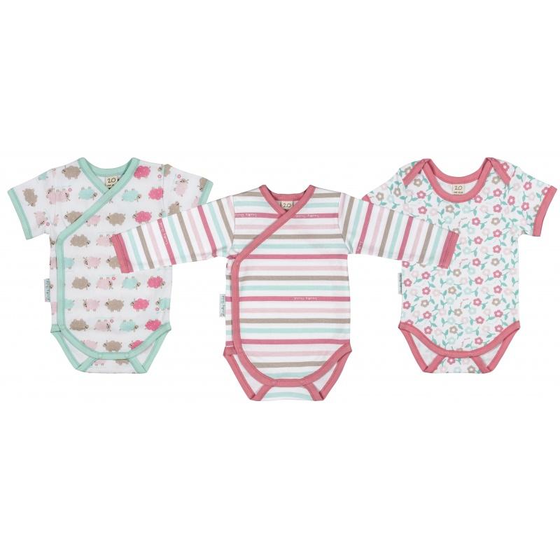 Купить Комплект боди 3 шт Lucky Child Малиновый р.86, Боди и песочники для малышей