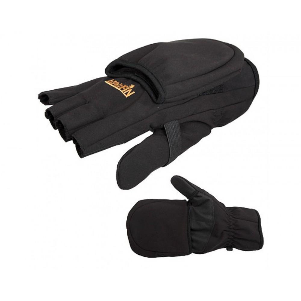Перчатки варежки мужские Norfin Softshell, черные, XL