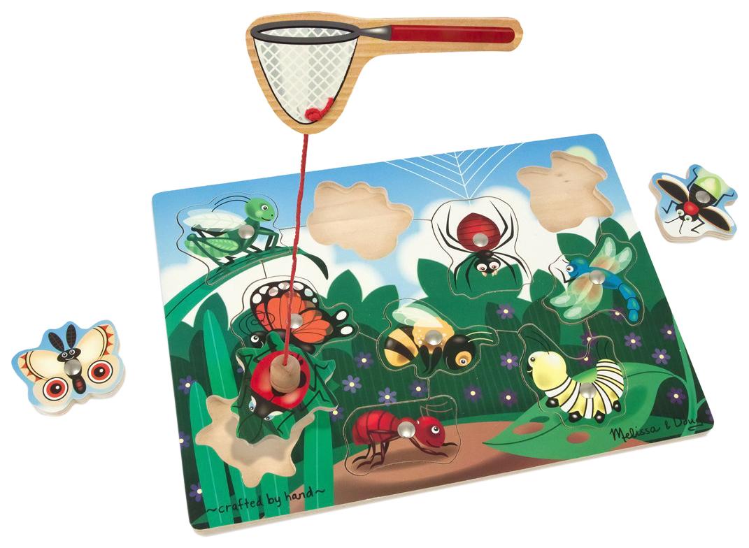 Купить Деревянная игрушка Melissa&Doug Магнитные игры Ловля насекомых, Melissa & Doug,