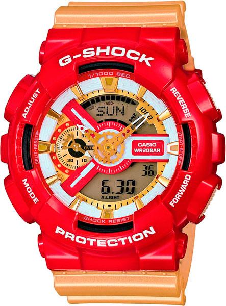 Японские наручные часы Casio G-Shock GA-110CS-4A с хронографом фото