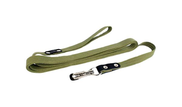 Поводок для собак Collar, брезент, зеленый,