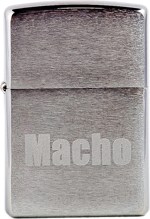 Бензиновая зажигалка Zippo №200 Macho Brushed Chrome
