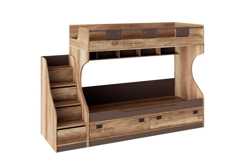 Кровать двухъярусная с приставной лестницей Hoff Пилигрим