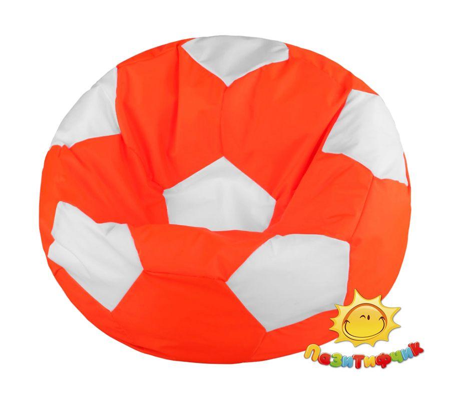 Кресло-мяч Pazitif Мяч Пазитифчик, размер L, оксфорд, оранжево-белый фото