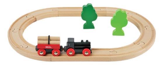 Купить Грузовой, Набор железная дорога Brio с грузовым поездом 33042, Детские железные дороги