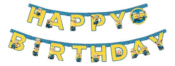 Росмэн 28299 гирлянда с днем рождения