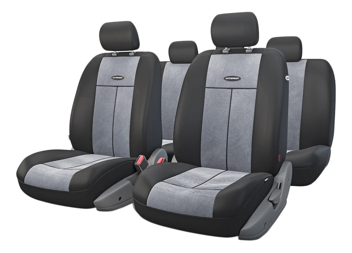 Комплект чехлов на сиденья Autoprofi TT-902V BK/D.GY фото
