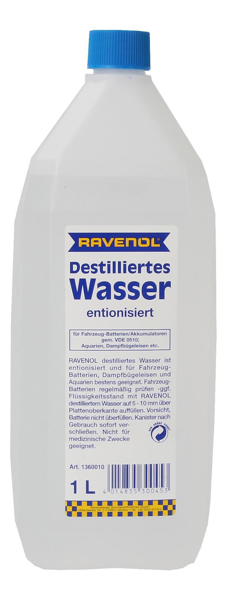 Дистиллированная вода RAVENOL 1л 1360010 001