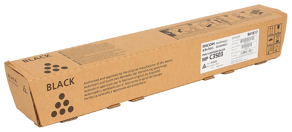 Картридж для лазерного принтера Ricoh MP C3503, черный, оригинал фото