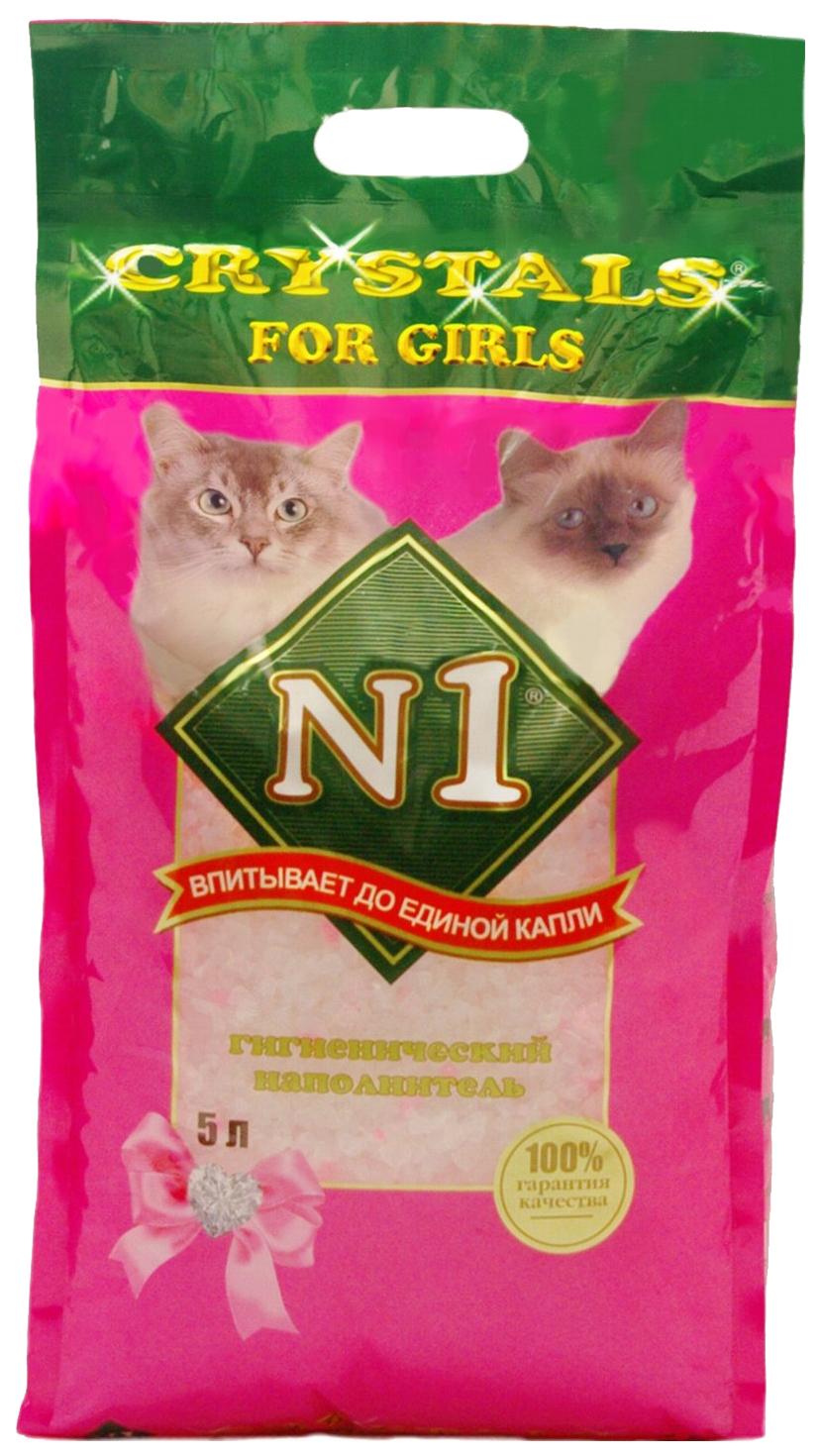 Силикагелевый наполнитель туалета для кошек N1 Cristals for girls №1 5л 92206