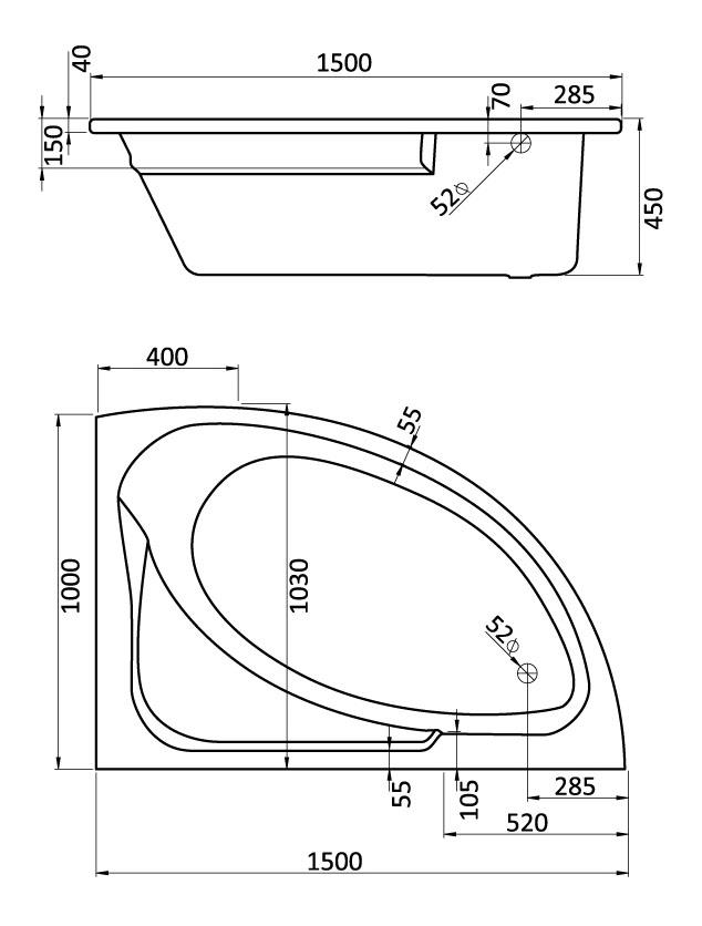 Комплект монтажный Santek Гоа 150х100см (1WH112428)