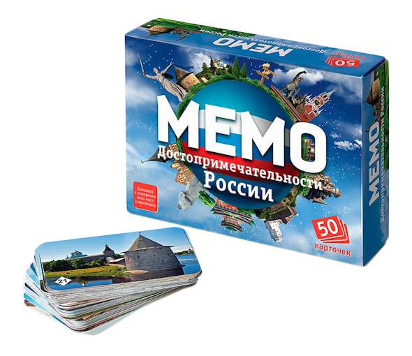 Настольная игра Бэмби мемо Достопримечательности России