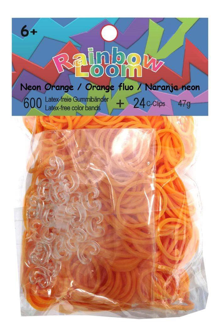 Плетение из резинок Rainbow Loom Solid Bands - Neon Orange