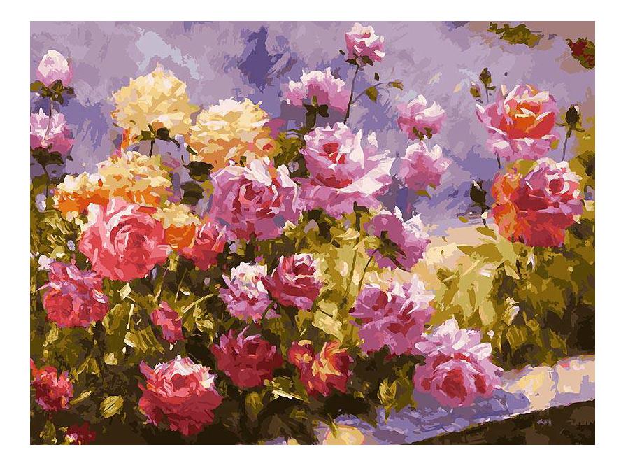 Раскраска по номерам Белоснежка Букет роз