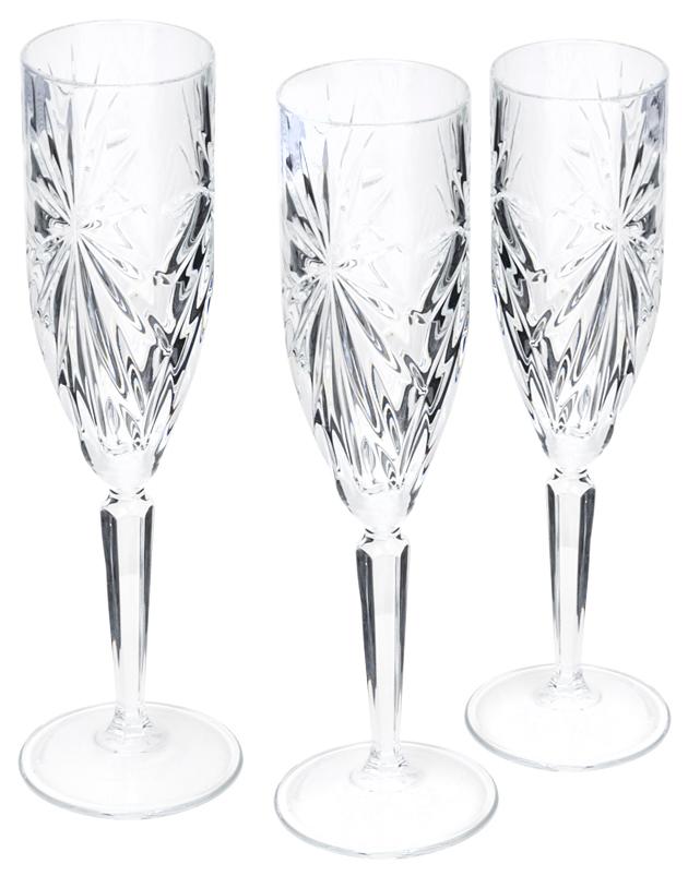 Набор бокалов RCR CRISTALLERIA ITALIANA oasis для шампанского 160 мл 6шт