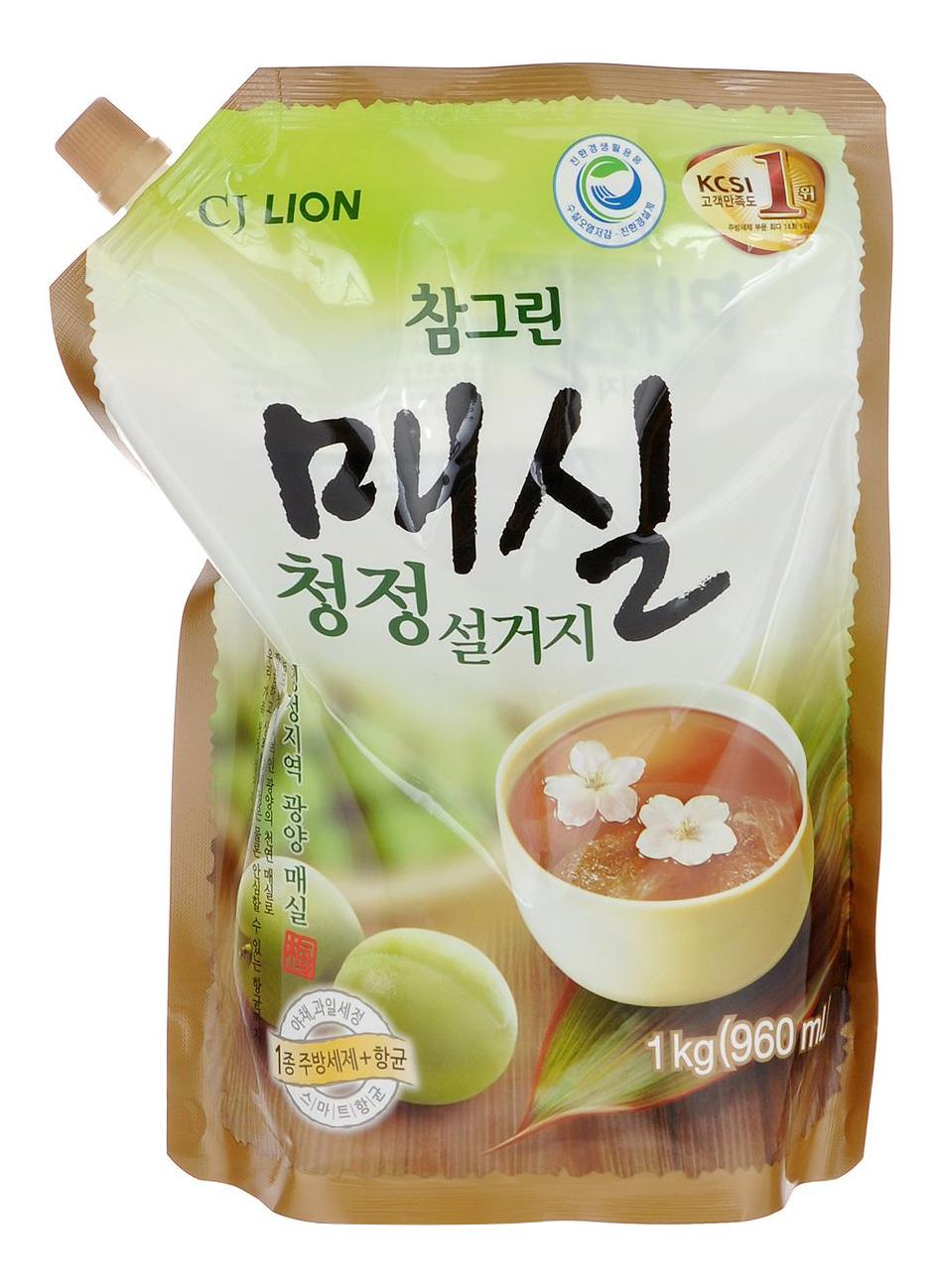 Средство для мытья посуды овощей фруктов CJ Lion сhamgreen японский абрикос 960 мл