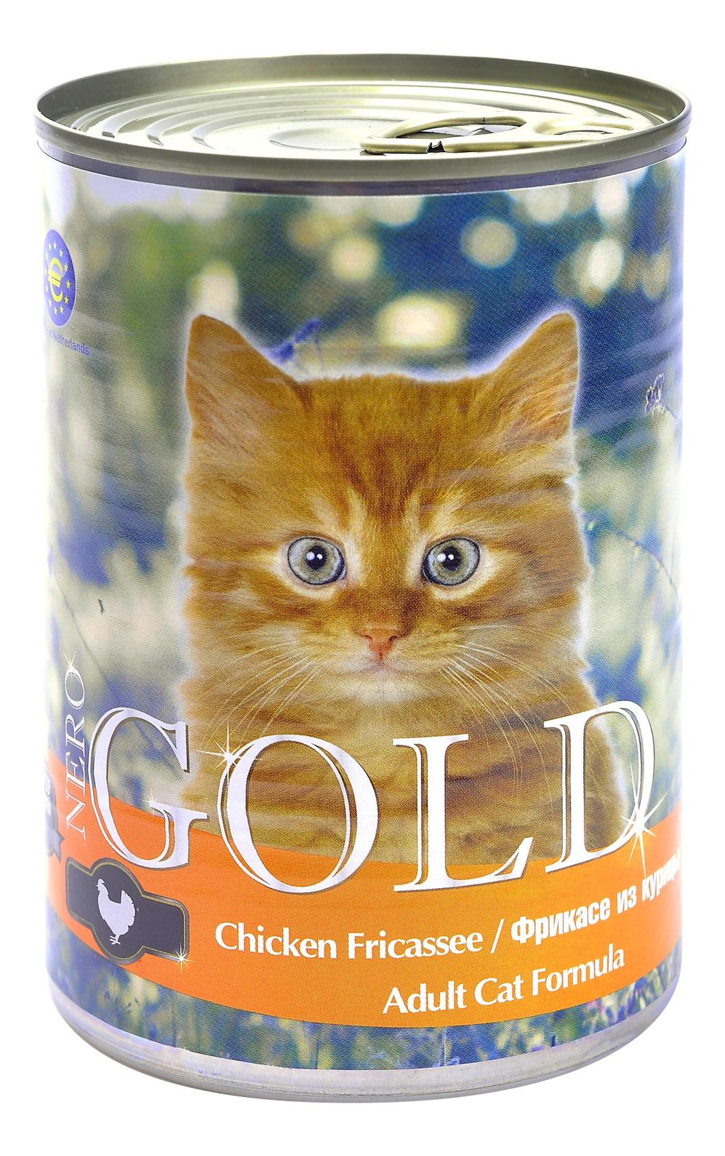 Консервы для кошек NERO GOLD, курица, 810г