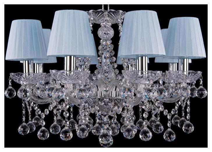 Люстра подвесная Bohemia Ivele Crystal 1413/8/200/Ni/Balls/SH4 фото