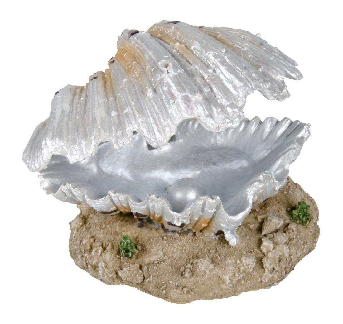 Грот для аквариума TRIXIE Sea Shell Морская раковина с жемчужиной, 7х9х7 см фото