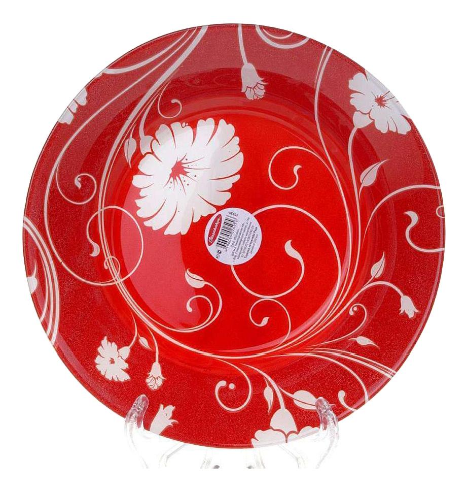 Тарелка Pasabahce Serenade red 22 см фото