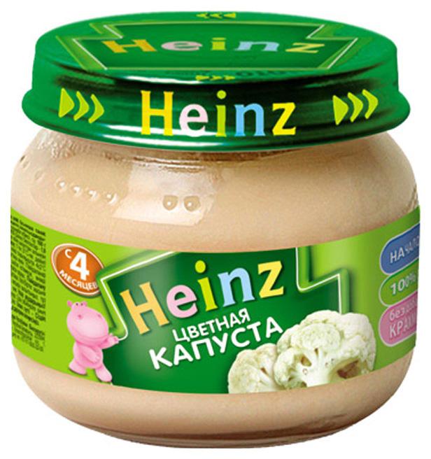 Купить Цветная капуста 80 г, Пюре овощное Heinz Цветная капуста с 4 мес 80 г, Овощное пюре