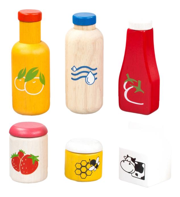 Купить Набор продуктов игрушечный PlanToys Еда и напитки, Игрушечные продукты