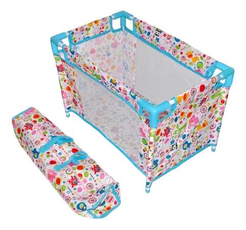 Купить Фантазия разборная голубая, Кроватка Фантазия разборная голуб 535х32х335 см 67318 для кукол Mary Poppins,