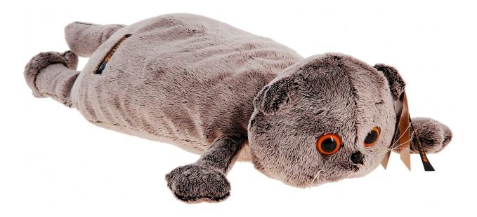 Купить Кот-подушка, Мягкая игрушка BUDI BASA кот подушка 40 см Kp40 012,