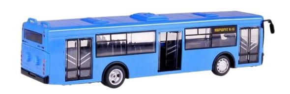 Купить Автобус инерционный автопарк свет звук синий 1:43 Play Smart 9690-d, PLAYSMART, Городской транспорт