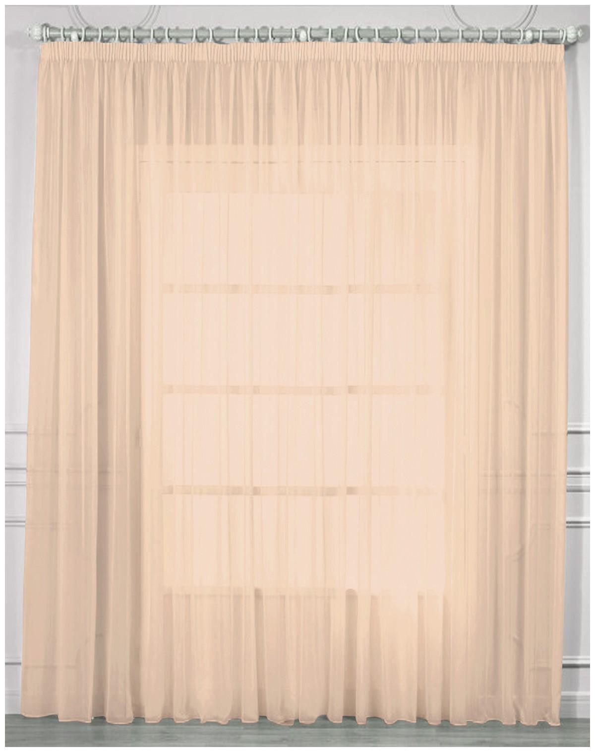 Тюль Amore Mio RR 2038 400*270 см Персиковый
