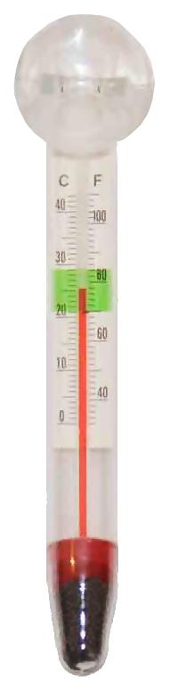 Термометр для аквариума AquaPro стеклянный, средний, на присоске