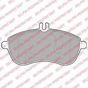 Тормозные колодки дисковые Delphi LP2028 фото