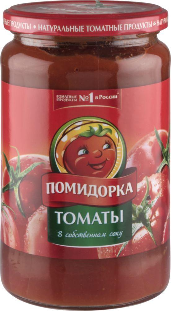 Томаты Помидорка в собственном соку 680 г