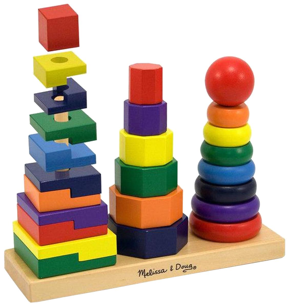 Развивающая игрушка Melissa and Doug Геометрическая пирамидка фото