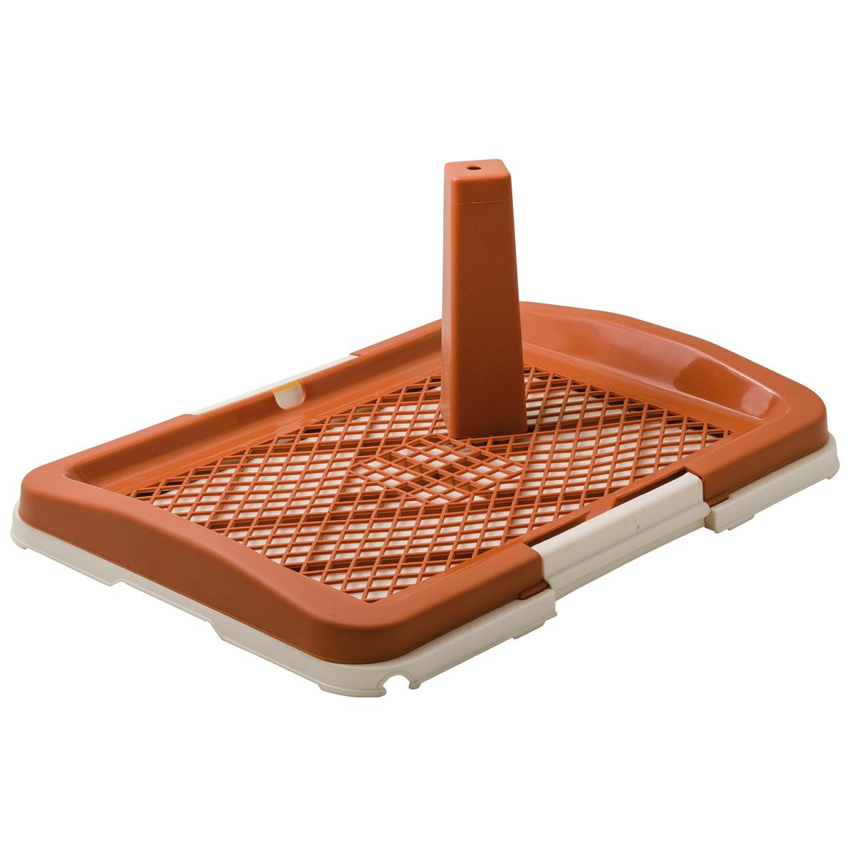 Лоток для собак ZooOne со столбиком, малый, коричневый, 48x35x6 см- обзор, преимущества, отзывы. Заказать товар для животных за 1329 руб. Бренд ZooOne