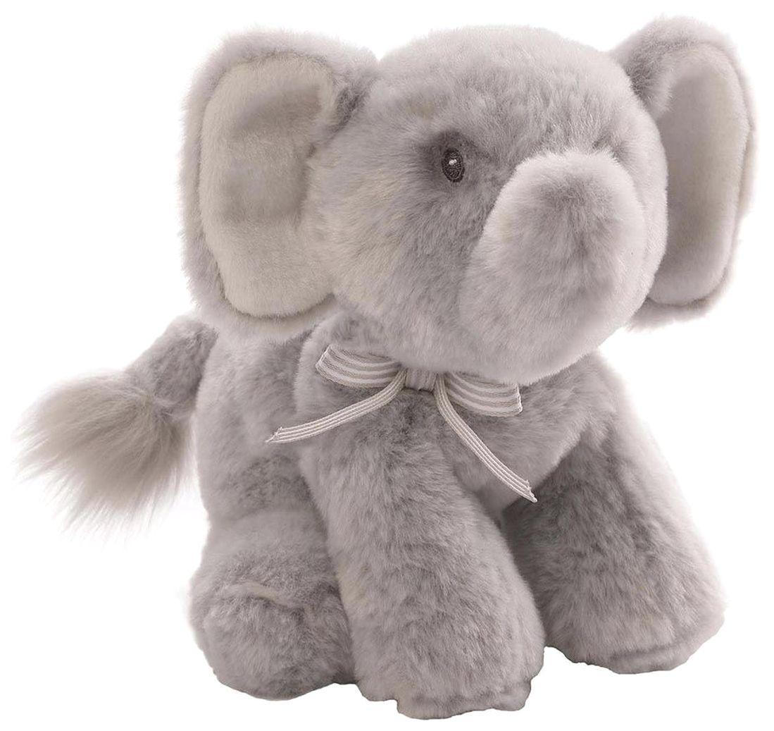 Игрушка мягкая (Oh So Soft Elephant Grey Rattle 18 см) Gund.