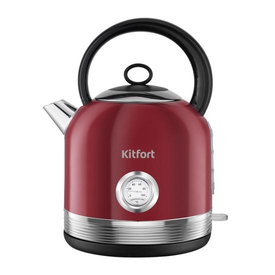 Чайник электрический Kitfort КТ-682 Maroon фото