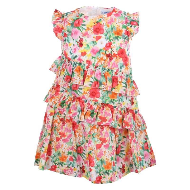 Купить Платье MAYORAL, цв. коралловый, 116 р-р, Детские платья и сарафаны
