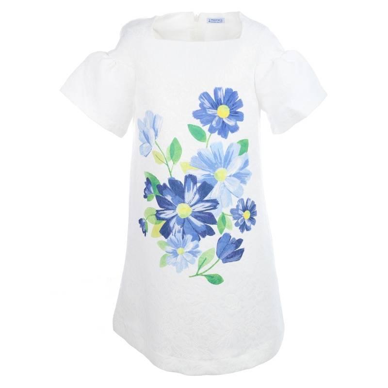 Купить Платье MAYORAL, цв. белый, 140 р-р, Детские платья и сарафаны