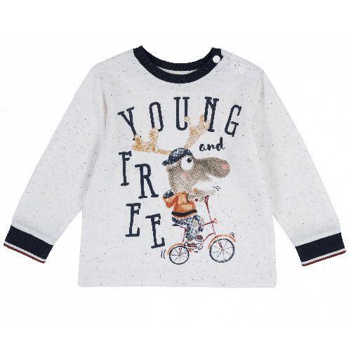 Купить 9006754, Лонгслив Chicco для мальчиков р.80 цв.светло-бежевый, Кофточки, футболки для новорожденных