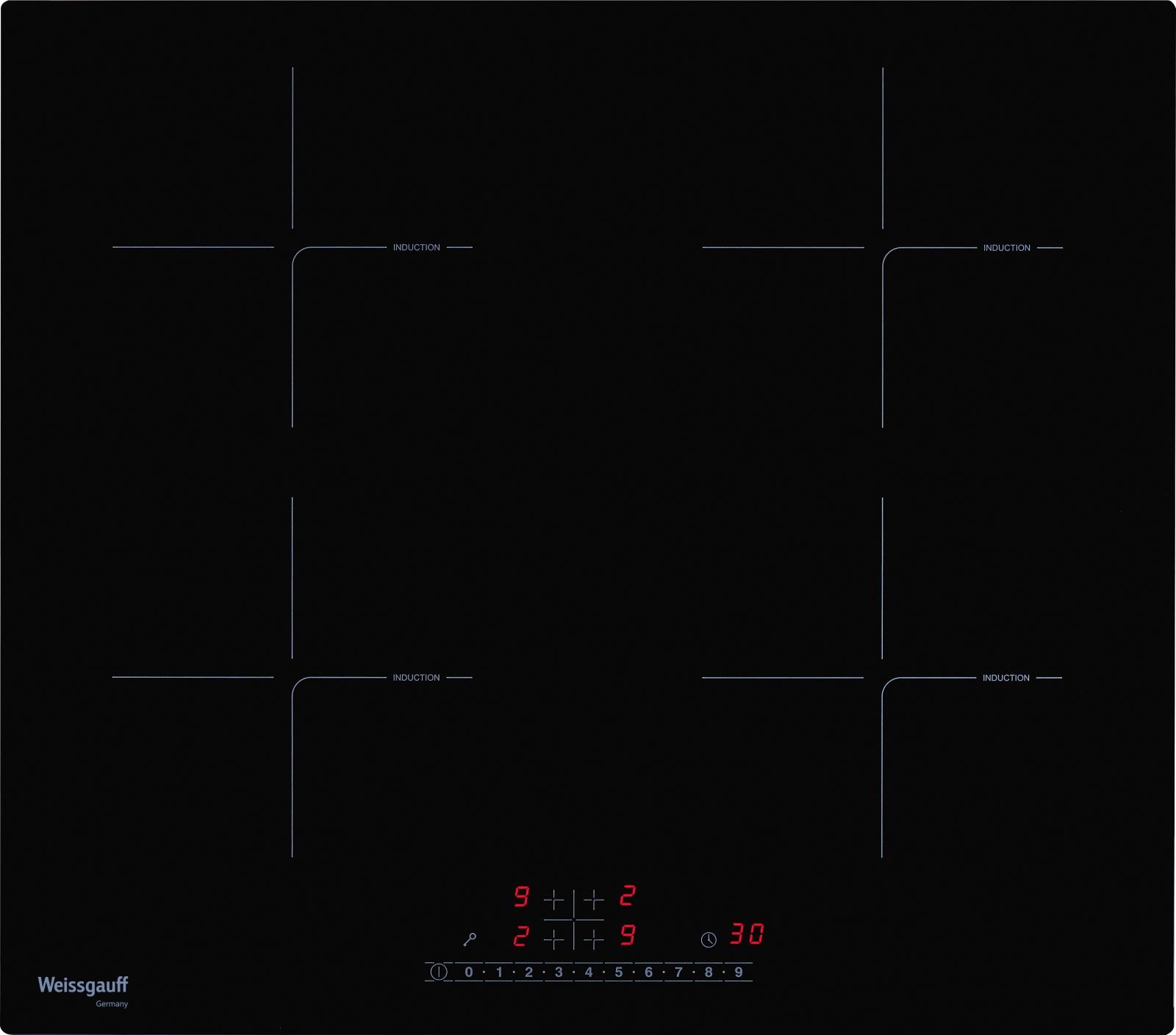 Встраиваемая электрическая панель Weissgauff HIF 640 BS