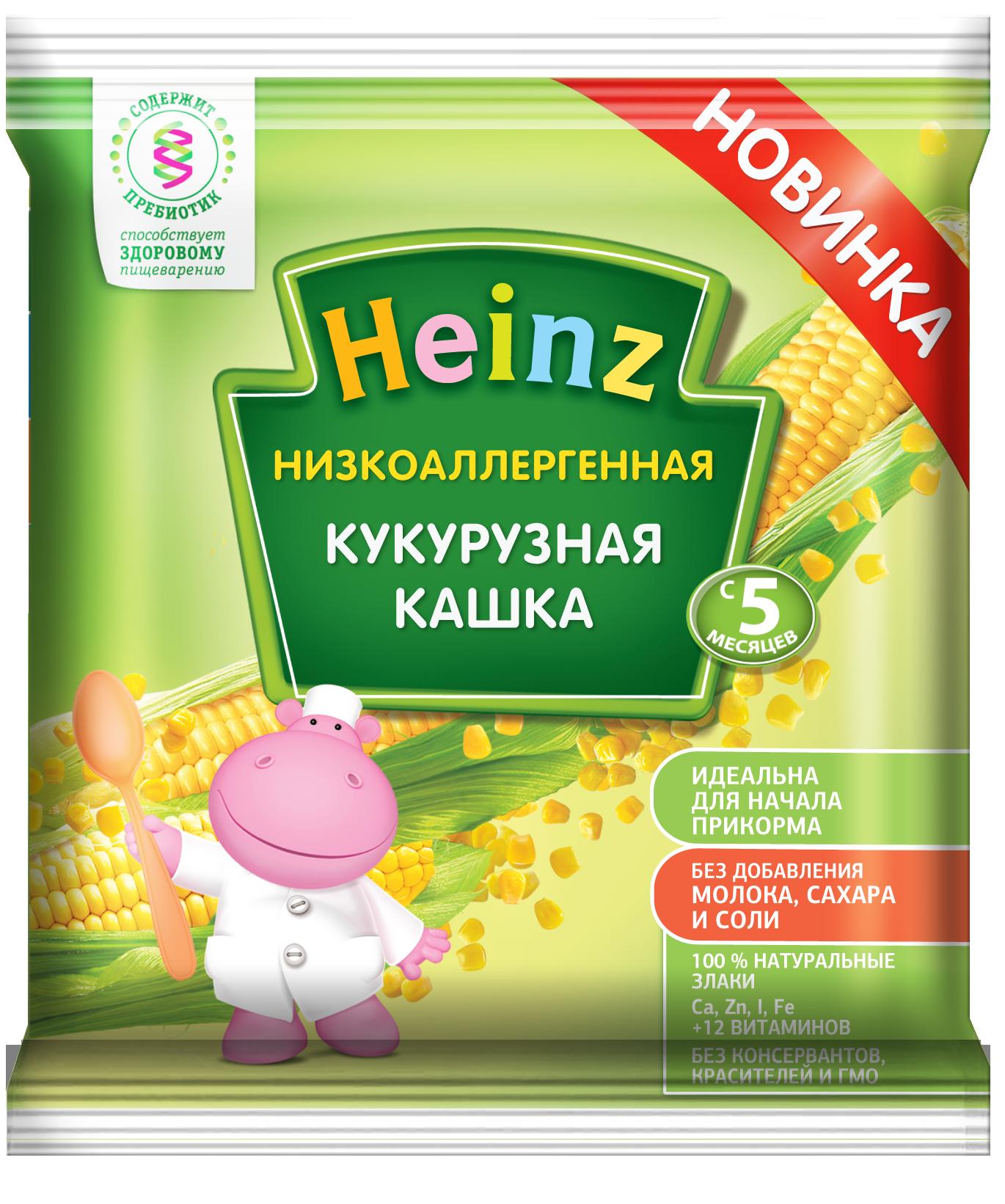Каша безмолочная Heinz Кукурузная с 5 мес.