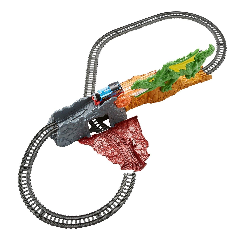 Купить Железнодорожный трек с паравозиком Thomas & Friends Track Master побег от дракона, Детские железные дороги
