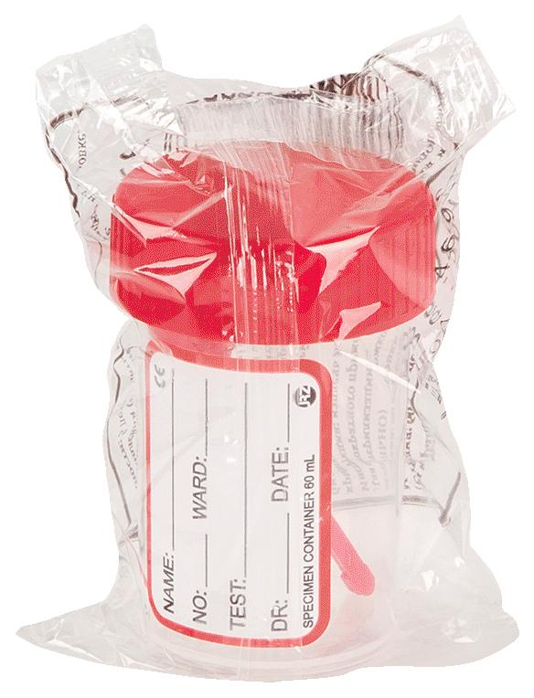 Купить Контейнер для биопроб PL стерильный с крышкой и ложкой 60 мл