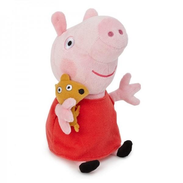 Мягкая игрушка Свинка Пеппа 20 см цв. красный