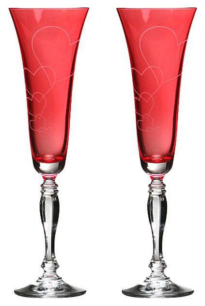 Набор бокалов Bohemia Crystal 674-112 Красный
