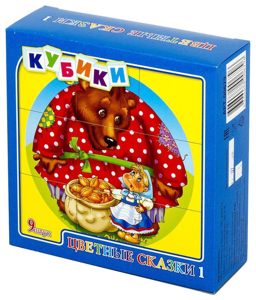 картинка Детские кубики Десятое королевство Цветные сказки 1 00679ДК от магазина Bebikam.ru