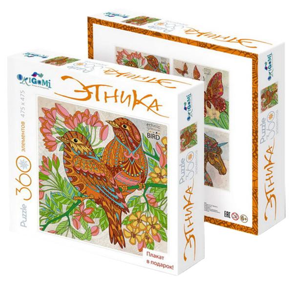Купить Пазл Origami 360 Арт-Терапия, Цветная Серия Птицы, Пазлы