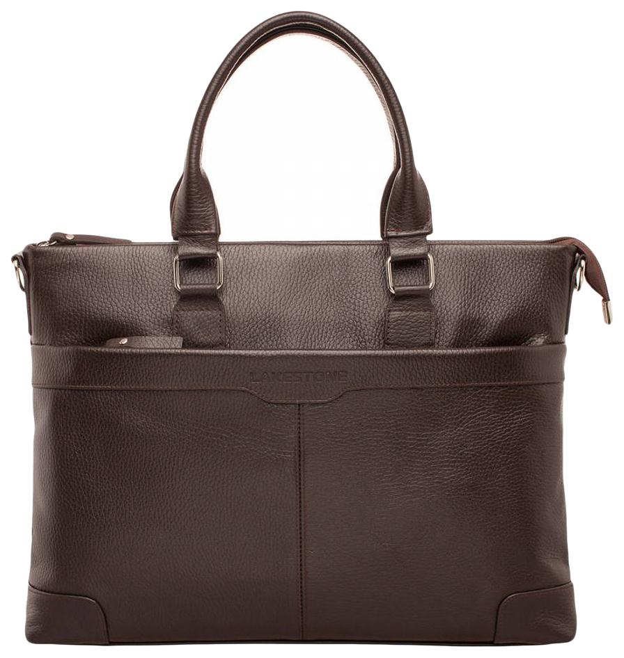 Портфель мужской кожаный Lakestone Gilroy коричневый фото